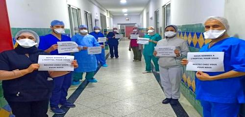 أطباء يناشدون المغاربة: نحن في المستشفى من أجلكم.. ابقوا بمنازلكم من أجلنا