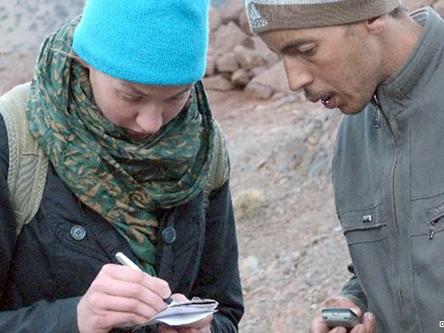 أوته تقوم من حين لآخر بجولات في البوادي المغربية للتعرف على حياة الناس هناك