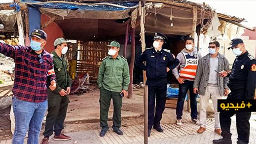 سلطات الناظور تواصل هدم الأسواق العشوائية وتحث التجار على احترام اجراءات السلامة والوقاية