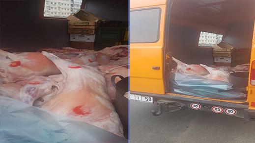 سلطات أمن مدينة بني انصار تحجز كمية كبيرة من اللحوم الفاسدة كانت موجهة للاستهلاك