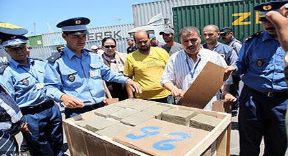 ضبط أزيد من 3.7 طن من مخدر الشيرا بميناء الدار البيضاء