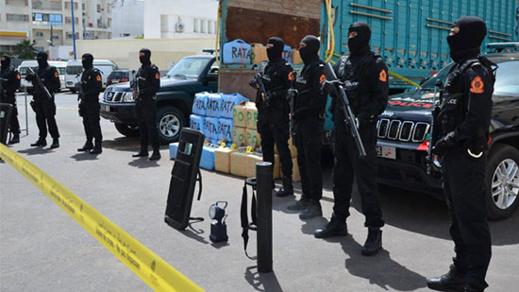 بالصور.. حجز 3 أطنان ونصف من مخدر الشيرا على متن شاحنة قادمة من الشمال