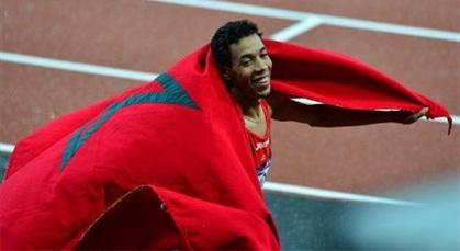 العداء المغربي إكيدير يمنح المغرب أول ميدالية في أولمبياد لندن