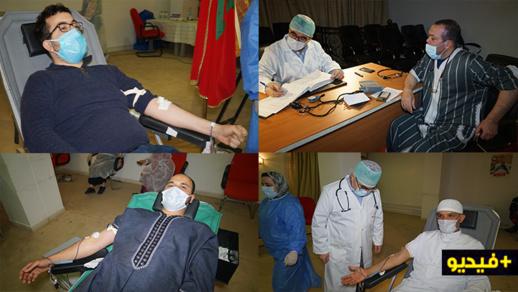 """فعاليات جمعوية تشارك في الحملة الكبرى لسد خصاص """"بنك الدم"""" بعمالة الناظور"""