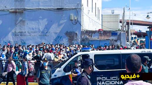 شاهدوا.. المغاربة المتواجدين بمليلية المحتلة يستعدون للمغادرة