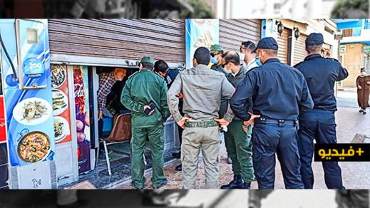 السلطات تشدد المراقبة على المحلات التجارية والأسواق وسط الناظور
