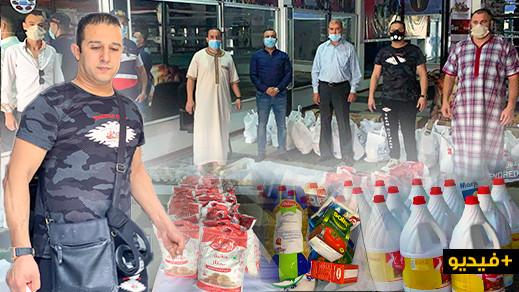 جمعية عثمان توزع 50 قفة على عدد من المدربين الرياضيين بالناظور