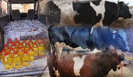 جمعويون يوزعون أطنانا من المواد الغذائية واللحوم على الأسر المحتاجة بتمسمان