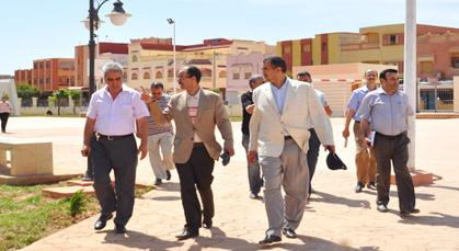 عامل إقليم الناظور يزور مدينة زايو لتفقد المشاريع الملكية