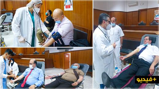 أسرة العدالة بالناظور تنخرط في مبادرة للتبرع بالدم
