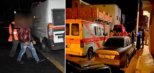 العروي: إيقاف مُشتبهٍ في ارتكابه المجزرة المروعة بعدما أثار شكوك الأمن ومصابتان في حالة جد حرجة