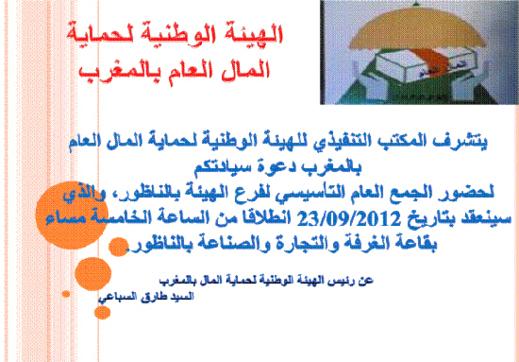 الهيئة الوطنية لحماية مال العام بالمغرب