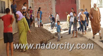 ساكنة حي سيدي عثمان الغربي تحتج على الأشغال العشوائية للتأهيل الحضري بزايو