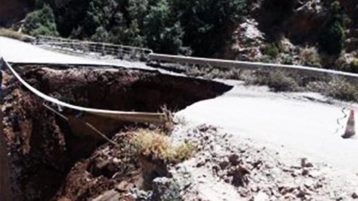 بالصور.. الحسيمة تنجو من كارثة جراء انهيار قنطرة بسبب الأشغال العمومية