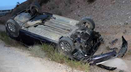 سيدي اليماني : انقلاب سيارة تستعمل في التهريب يخلف إصابات خطيرة