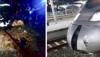 """الكشف عن هوية الشخص الذي ألقى نفسه أمام قطار """"التيجيفي"""""""