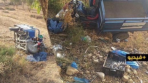 مصرع شخص وإصابة آخر في حادث إنقلاب دراجة ثلاثية العجلات بالكبداني