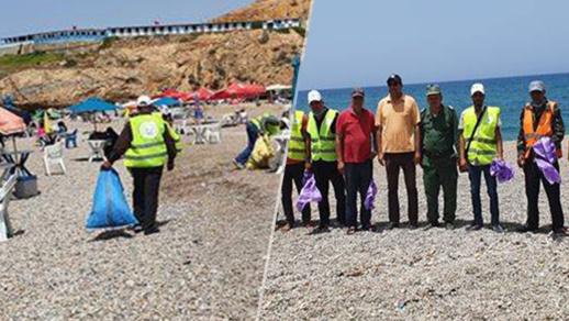 """في بادرة هي الأولى بالإقليم.. جمعية """"اتشوكت"""" بالكبداني تطلق حملة مفتوحة لنظافة شواطئ الدريوش"""