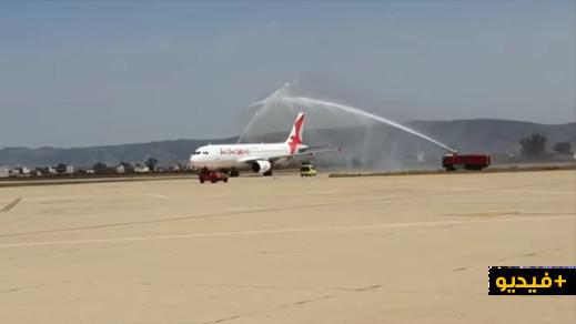 """شاهدوا.. مطار العروي يستقبل أولى طائرات """"العربية"""" إستعدادا لإنطلاق الرحلات الجوية الدولية الإستثنائية"""