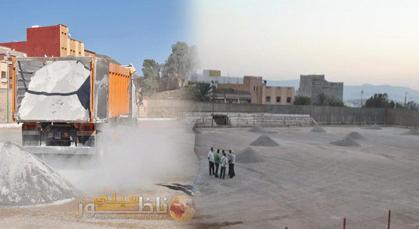 المكتب المسير لفريق نهضة زايو يبادر بإصلاح أرضية الملعب البلدي