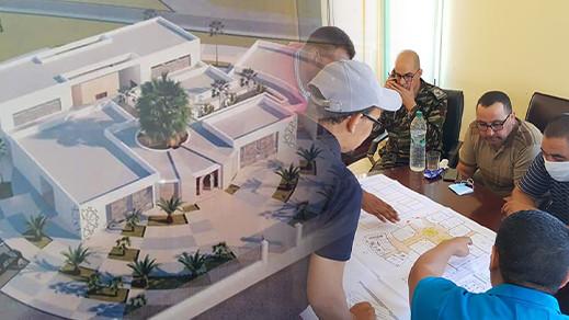 عبد السلام الطاوس يعطي الإنطلاقة لبناء مركز التكوين المهني بميضار