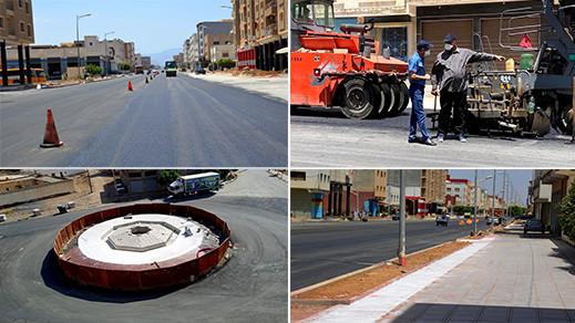 عامل إقليم الدريوش يسهر على تتبع أشغال تهيئة الشارع الرئيسي لعاصمة الإقليم