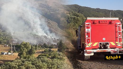 شاهدوا.. إندلاع حريق قرب غابة جبل القرن يستنفر السلطات بإقليم الدريوش