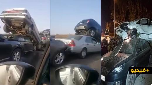 """شاهدوا.. حوادث مميتة بالجملة  على الطرق المغربية في """"ليلة الفوضى والرعب"""""""