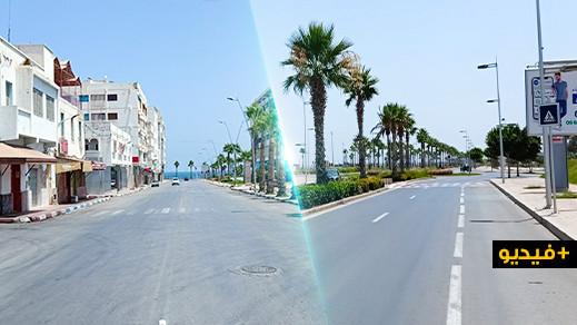 الناظور صباح عيد الأضحى.. شوارع فارغة من المواطنين ومساجد مغلقة نتيجة الوباء الفتاك