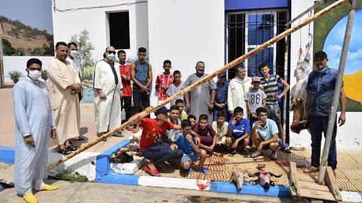 وفد قضائي يشارك نزلاء خيرية الناظور فرحة عيد الأضحى المبارك