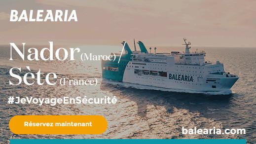 لأول مرة شركة بلاريا تطلق خطا بين ميناء بني أنصار وسيت الفرنسي