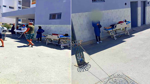 نشطاء يطالبون وزير الصحة بفتح تحقيق داخل المستشفى الحسني بعد واقعة إلقاء مريض للشارع
