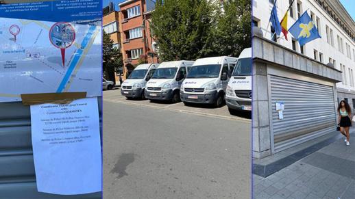 """بالصور..  إغلاق مركز للشرطة بمدينة مولنبيك بعد تسجيل حالة إصابة ب""""كورونا"""" في صفوف موظفيه"""