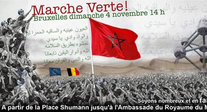 مغاربة بلجيكا ينظمون مسيرة خضراء بالعاصمة الأوربية اليوم الأحد