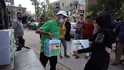 مؤسسة ثويزا  ترسل مساعدات طبية وإنسانية عاجلة الى لبنان