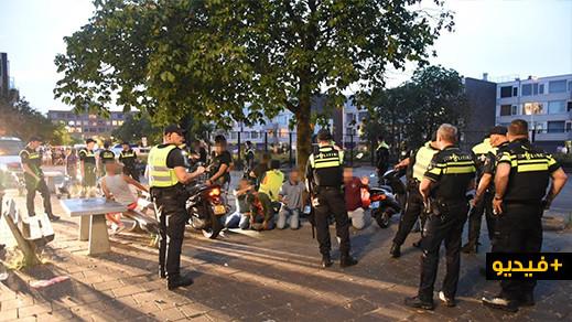 """شاهدوا.. أعمال شغب وعنف بهولندا """"تورط"""" شبان مغاربة"""