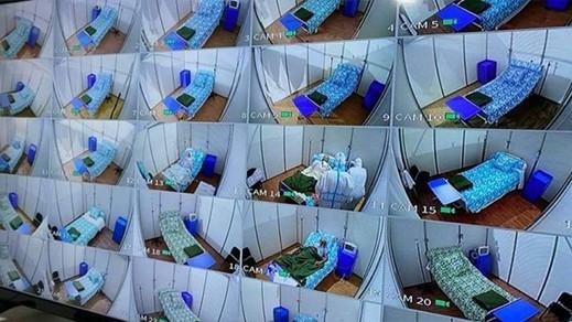 زيارات افتراضية للمصابين بفيروس كورونا باستعمال كاميرات مراقبة
