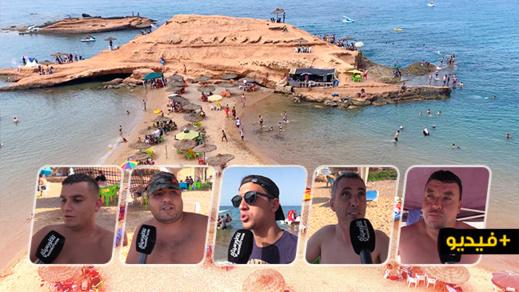 """شاهدوا.. شاطئ سيدي البشير """"تماضت"""" يتحول إلى قبلة عائلية لقضاء عطلة الصيف"""
