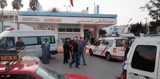 من يوقف فوضى سيارات الاسعاف الخاصة أمام مستشفى الحسني بالناظور؟