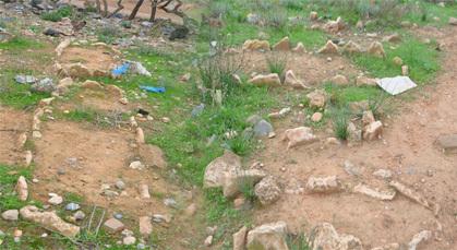 اهمال الساكنة والمسؤولين  يكشف عن تدنيس مقبرة بزايو وسط صمت الوزارة المعنية