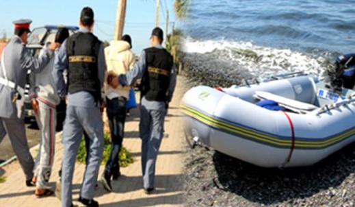 توقيف 15 مرشحا للهجرة السرية بمنطقة سيدي البشير