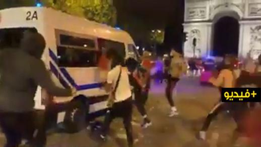 """فوضى عارمة واعتقالات في """"احتفالات"""" بتأهّل """"سان جيرمان"""" إلى نهائي التشامبيونز ليغ"""