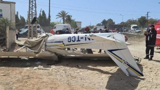 استنفار أمني بالقنيطرة بعد حادث تحطم طائرة