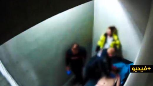 """شاهدوا.. تدخّل """"قاتل"""" للشرطة البلجيكية داخل زنزانة"""