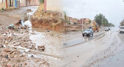 السلطات المحلية بزايو تتخذ الحيطة والحذر وتستعد لمواجهة فيضان محتمل