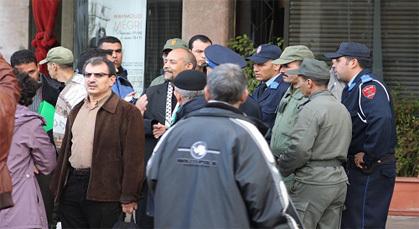 قوات الأمن تفرق فبرايريين حاولوا الاحتجاج على حجم ميزانية القصر