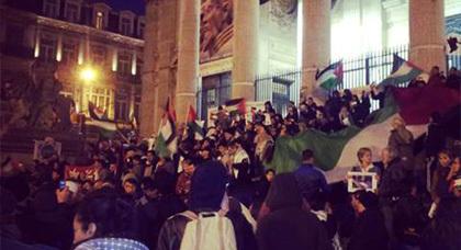 مظاهرات بأوروبا دون انقطاع ضد القصف المتواصل على قطاع غزة المحترقة