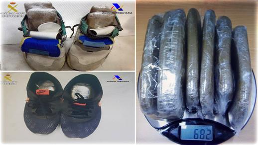 أمن مطار مليلية يلقي القبض على شابين حاولا تهريب كمية من المخدرات