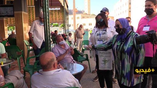 """جمعية """"نحن معا"""" تواصل تحسيس المواطنين للتقيد بالتدابير الصحية لمواجهة تفشي فيروس كورونا"""