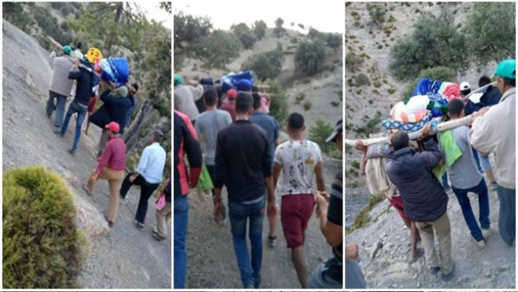 في غياب تام لسيارات الاسعاف.. مواطنون بإقليم تازة يحملون مرضاهم إلى المستشفى في النعوش